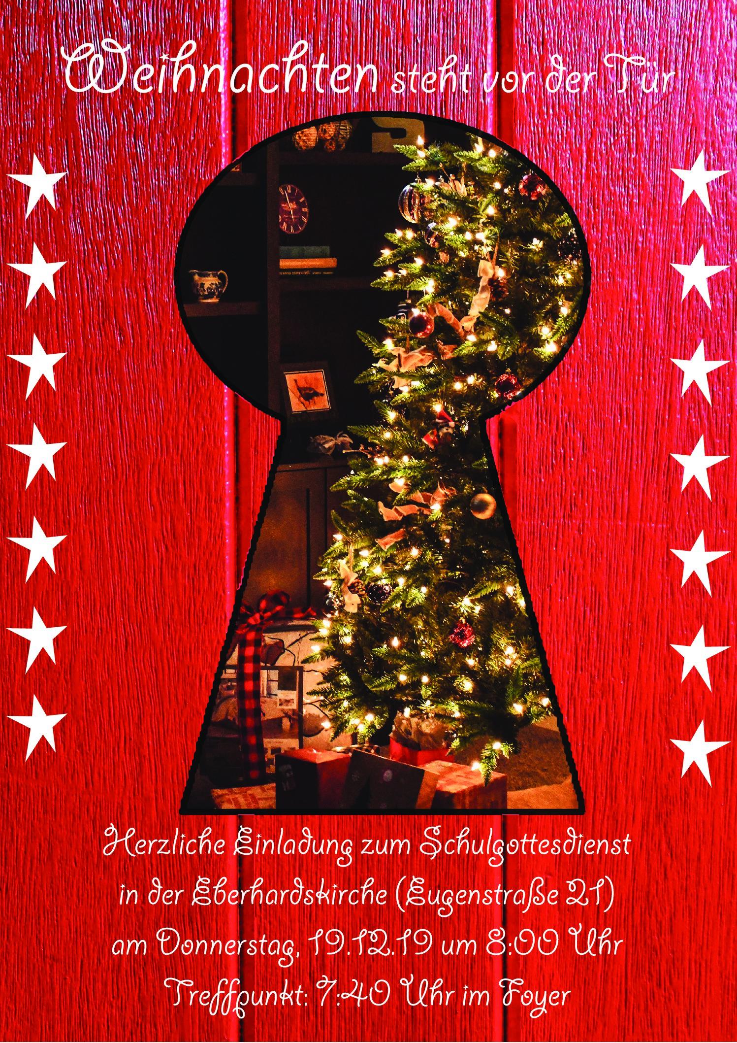 Einladung zum Weihnachtsgottesdienst